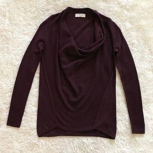 Aritzia Babaton Purple Drape Neck Wool Sweater XS